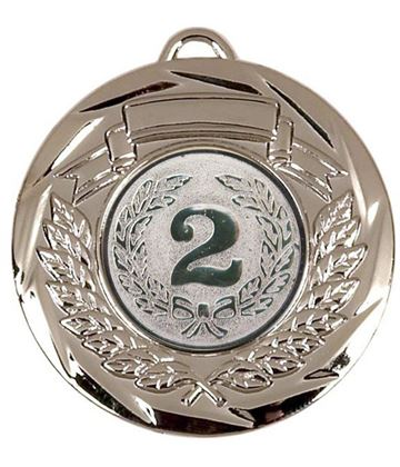"Multi Sport Barrel Plated Silver Medal 50mm (2"")"