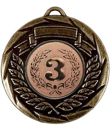 "Multi Sport Barrel Plated Bronze Medal 50mm (2"")"