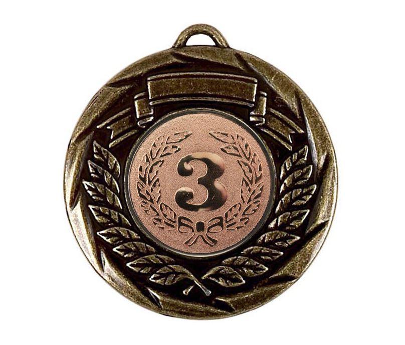 "Multi Sport Barrel Plated Bronze Medal 50mm (2"")"