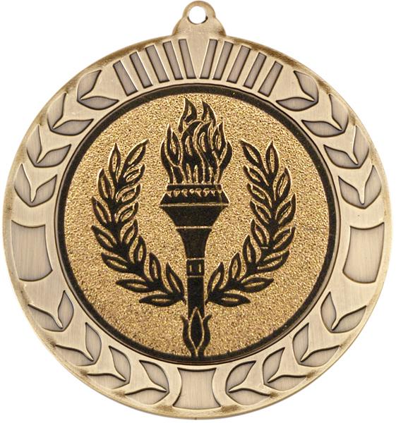 "Antique Gold Wreath Medal 70mm (2.75"")"