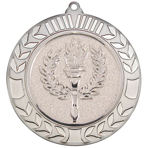 """Antique Silver Wreath Medal 70mm (2.75"""")"""