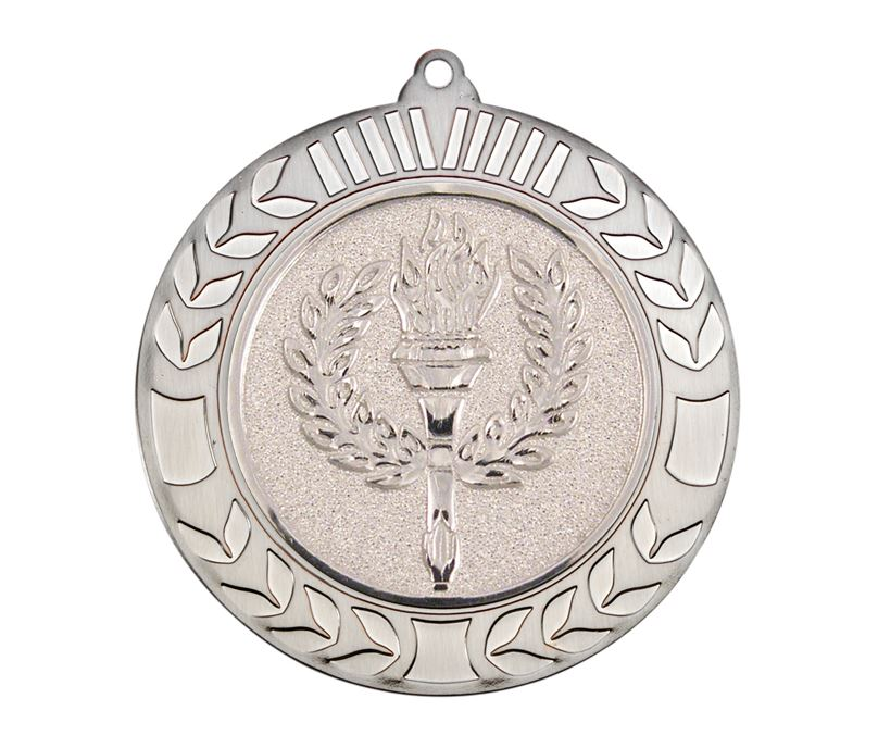 "Antique Silver Wreath Medal 70mm (2.75"")"
