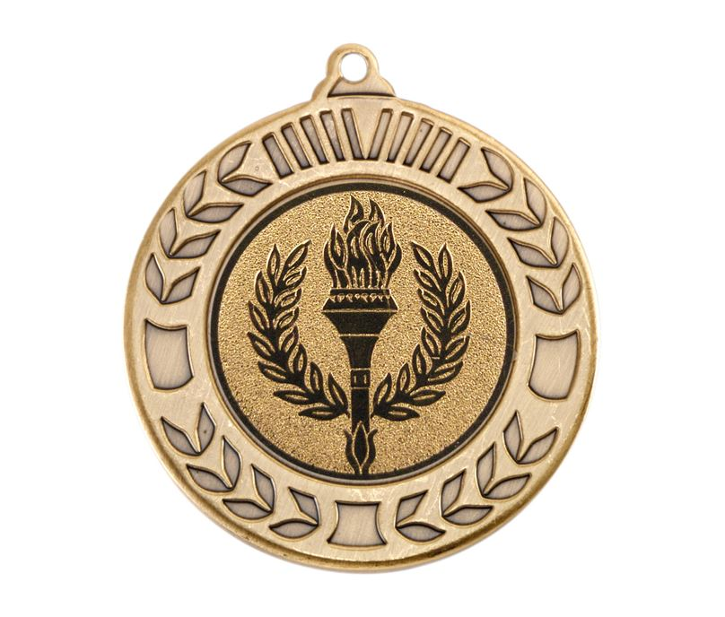 "Antique Gold Wreath Medal 40mm (1.57"")"