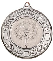 """Antique Silver Wreath Medal 40mm (1.57"""")"""