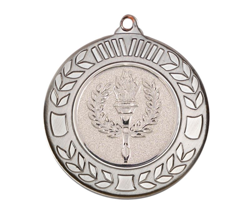 "Antique Silver Wreath Medal 40mm (1.57"")"