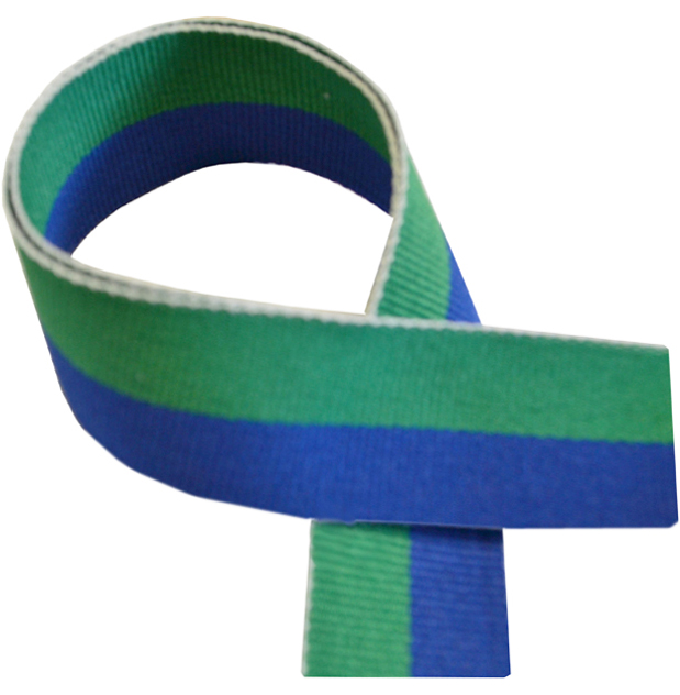"Green & Blue Medal Ribbon 76cm (30"")"
