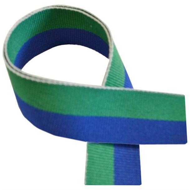 "Green & Blue Medal Ribbon 80cm (32"")"