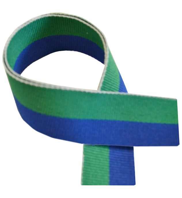 "Green & Blue Medal Ribbon 80cm (32"")"