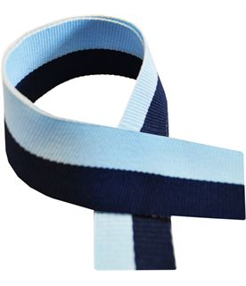 "Navy Blue & Sky Blue Medal Ribbon 76cm (30"")"