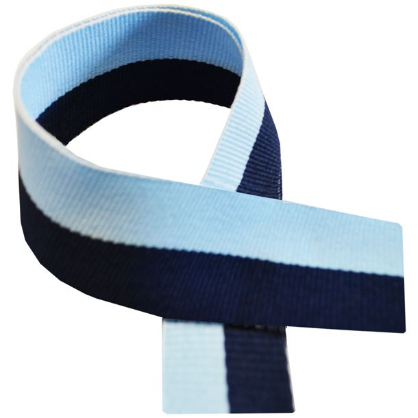 "Navy Blue & Sky Blue Medal Ribbon 80cm (32"")"