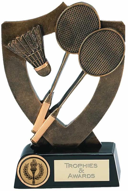 "Badminton Trophy Award 13.5cm (5.25"")"