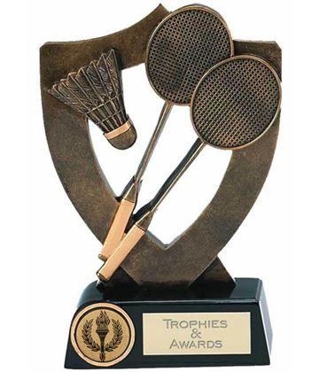 "Badminton Trophy Award 18cm (7"")"