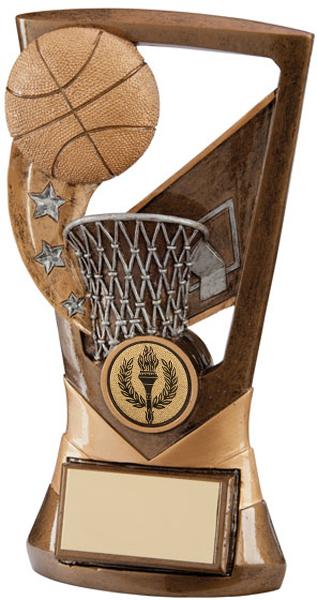 "Antique Gold Velocity Basketball Trophy 18cm (7"")"