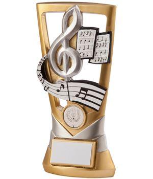 "Gold & Silver Velocity Music Plaque Trophy 18.5cm (7.25"")"