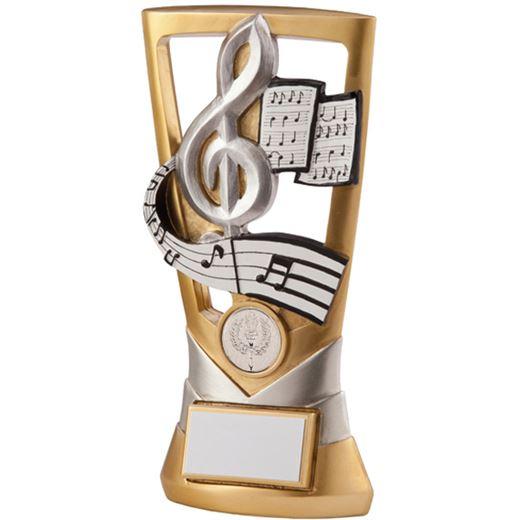 "Gold & Silver Velocity Music Plaque Trophy 21cm (8.25"")"