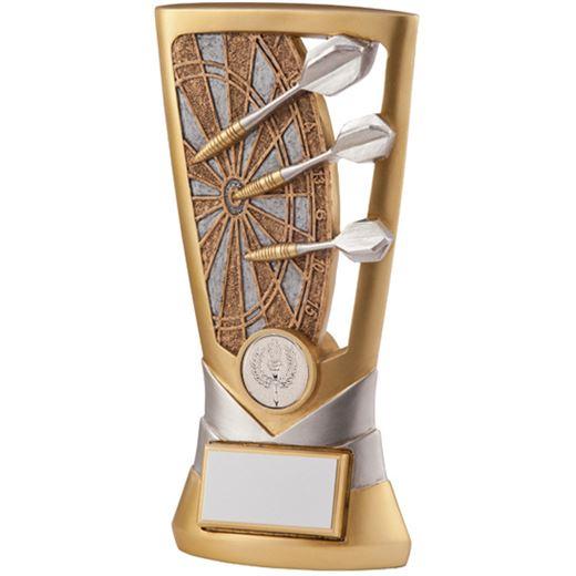 "Gold & Silver Resin Velocity Darts Trophy 14cm (5.5"")"