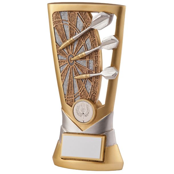 "Gold & Silver Resin Velocity Darts Trophy 18cm (7"")"
