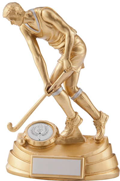 """Gold & Silver Resin Extreme Male Hockey Trophy 18cm (7"""")"""