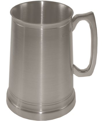"Extra Heavy 1pt Sheffield Pewter Tankard with Glass Base 12.5cm (5"")"