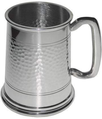 "Half Hammered 1pt Sheffield Pewter Tankard 11.5cm (4.5"")"