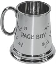 "1/4pt Page Boy Sheffield Pewter Children's Tankard 7.5cm (3"")"