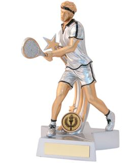 "Male Tennis Star Action Figure Trophy 18cm (7"")"