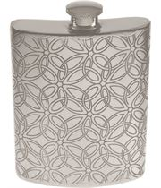 "6oz Triquetra Patterned Sheffield Pewter Hip Flask 11cm (4.25"")"