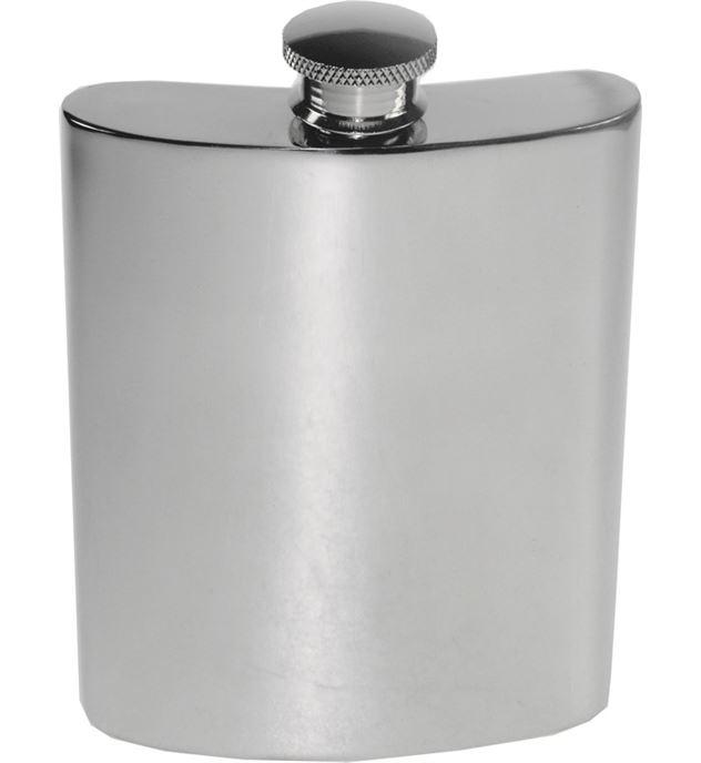 "6oz Plain Polished Sheffield Pewter Hip Flask 11cm (4.25"")"