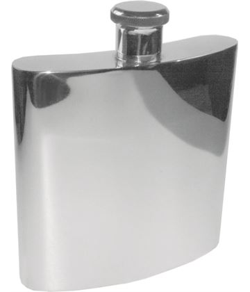 "Giant 26oz Plain Polished Sheffield Pewter Hip Flask 19.5cm (7.75"")"