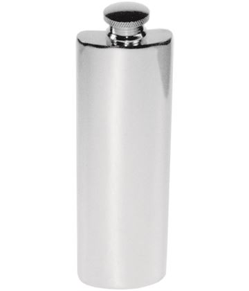 "3oz Plain Polished Sheffield Pewter Purse Flask 14.5cm (5.75"")"