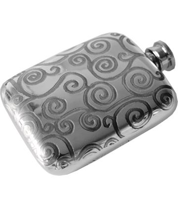 "4oz Tree of Life Sheffield Pewter Pocket Flask 9.5cm (3.75"")"