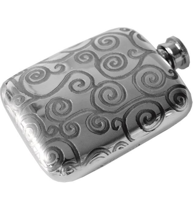 "4oz Tree of Life Sheffield Pewter Pocket Flask 9.5cm (3.75"")"