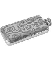 "3oz Tree of Life Sheffield Pewter Pocket Flask 12.5cm (5"")"