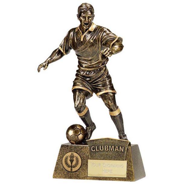 "Antique Gold Pinnacle Clubman Football Trophy 22cm (8.75"")"