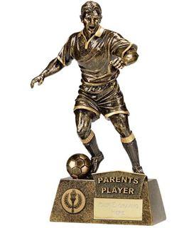"Antique Gold Pinnacle Parents Player Football Trophy 22cm (8.75"")"
