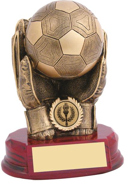 """Antique Gold Resin Goalkeeper Trophy 18cm (7"""")"""