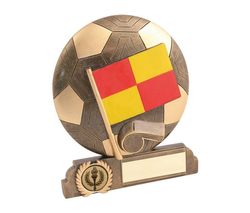 "Antique Gold Resin Linesman Trophy 16.5cm (6.5"")"
