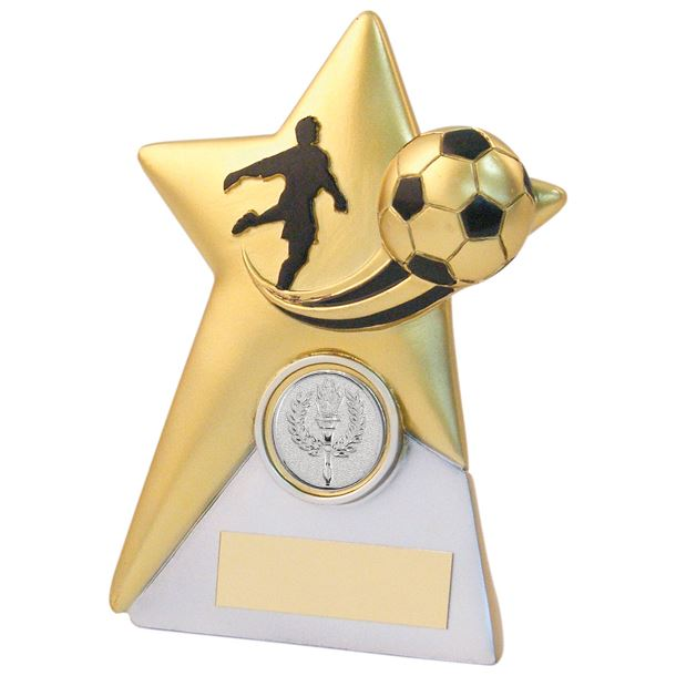 "Gold & Silver Football Star Plaque Trophy 15cm (6"")"