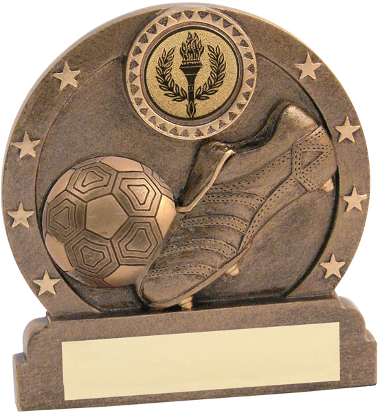 "Resin Antique Gold Football Trophy 8.5cm (3.25"")"
