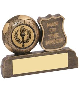 "Antique Gold Resin Man of the Match Trophy 6.5cm (2.5"")"