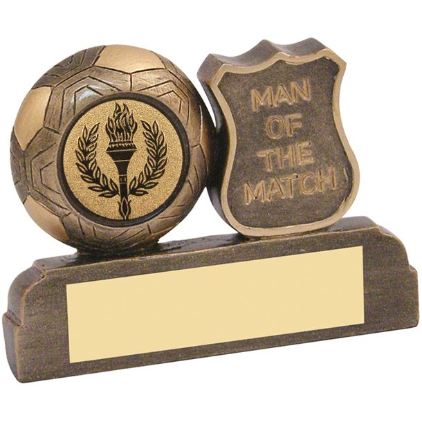 """Antique Gold Resin Man of the Match Trophy 6.5cm (2.5"""")"""
