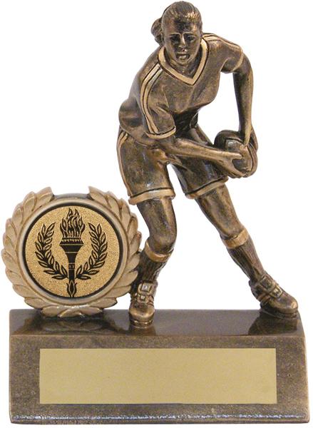 "Mini Female Rugby Trophy 10.5cm (4.25"")"