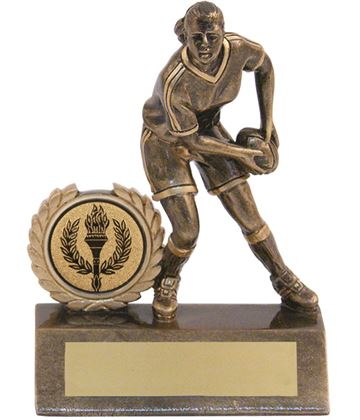 "Mini Female Rugby Trophy 9.5cm (3.75"")"