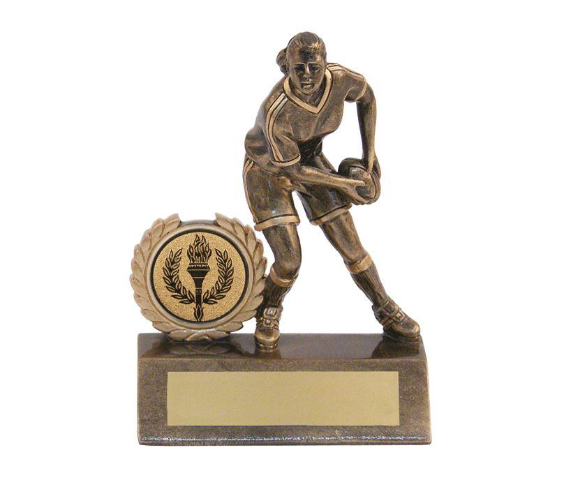 "Mini Female Rugby Trophy 13.5cm (5.25"")"