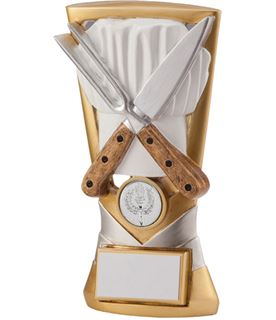 "Gold & Silver Resin Velocity Cooking Trophy 18.5cm (7.25"")"