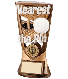 "Gold Resin Velocity Nearest The Pin Golf Trophy 18cm (7"")"