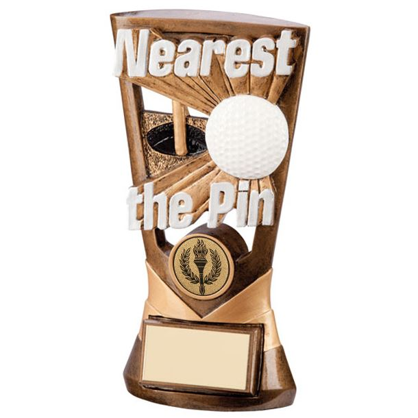 "Gold Resin Velocity Nearest The Pin Golf Trophy 18cm (7"")"