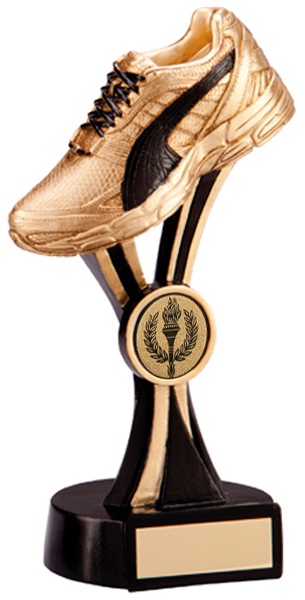 "Gold & Black Resin Puma Running Trainer 18.5cm (7.25"")"