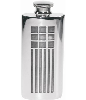 "2oz Mackintosh Embossed Sheffield Pewter Purse Flask 9.5cm (3.75"")"