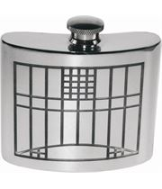 "6oz Mackintosh Embossed Sheffield Pewter Hip Flask 10cm (4"")"